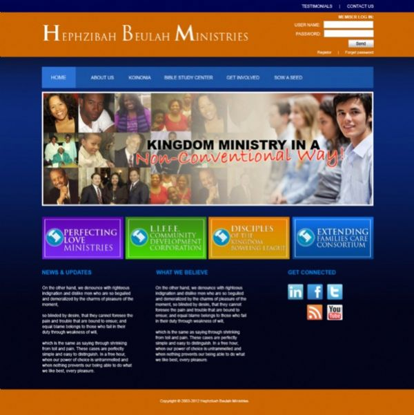 Church Website Templates By NetMinistry - Church website templates
